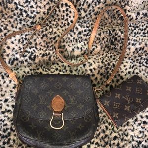Auth. Louis Vuitton St. Cloud with wallet